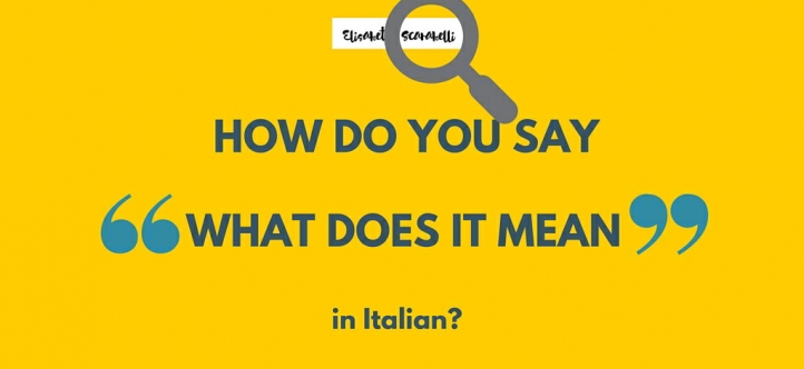how to say your in italian